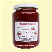 Hägenmark / Hagebutte - hausgemachter Fruchtaufstrich